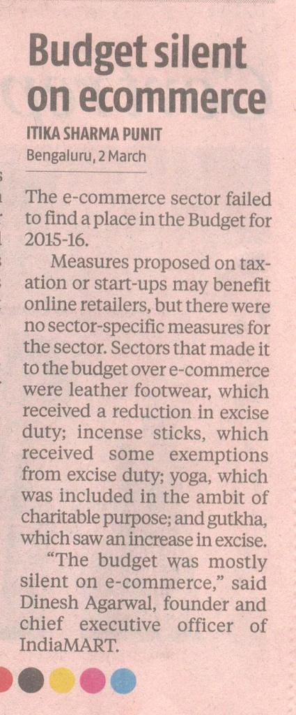 Budget silent on e-commerce