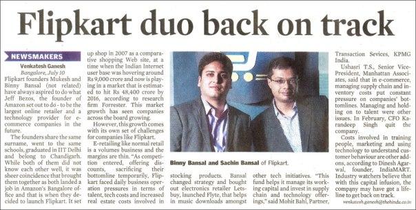 Flipkart duo back on track