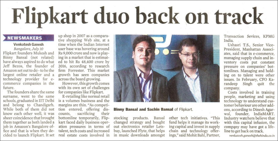 Flipkart duo back on track
