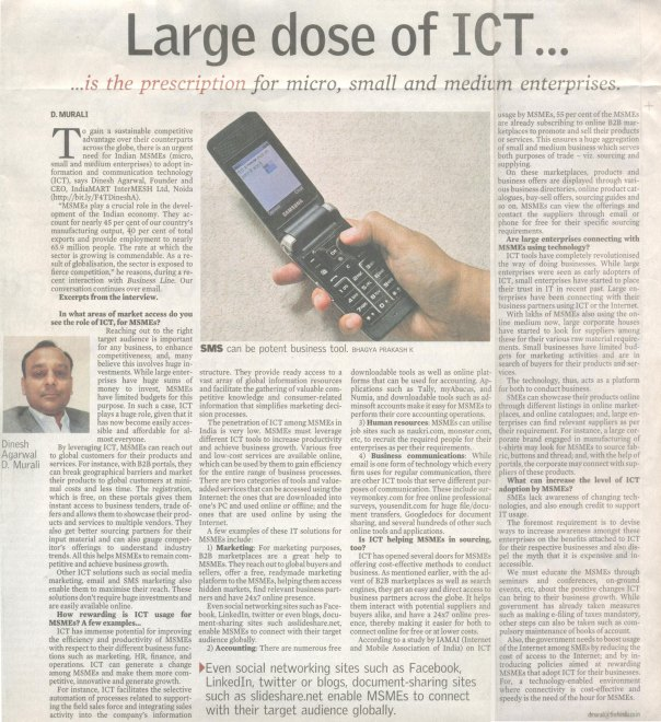 Large dose of ICT…