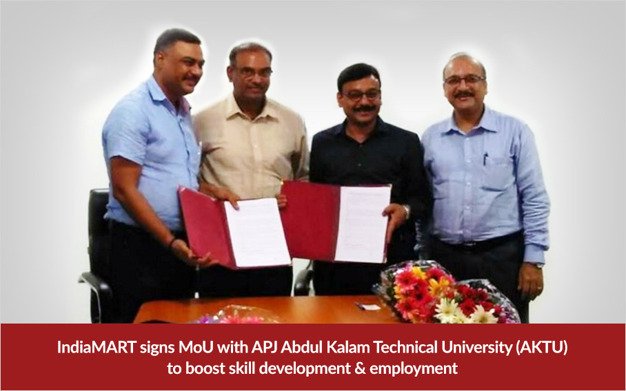 IndiaMART-signs-MoU-with-APJ-Abdul-Kalam-Technical-University-(AKTU)-to-boost-skill-development-&-employment